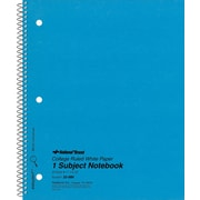 """National Brand Wirebound 1-Subject Notebook, College/Margin Ruled, 11"""" x 8 7/8"""", 50 Sheets/Book"""