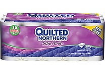 Quilted Northern® Ultra Plush Bathroom Tissue, 3-Ply, 30 Rolls/Case