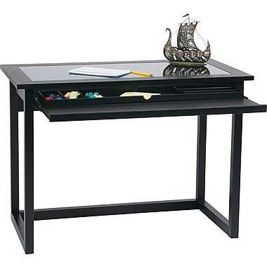 Office Star OSP® Designs Veneers and Wood solids Tool-Less Meridian Computer Desk, Black