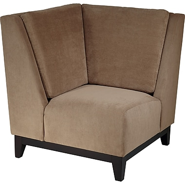 Office Star Avenue Six® Fabric Merge Corner Chair, Easy Brownstone