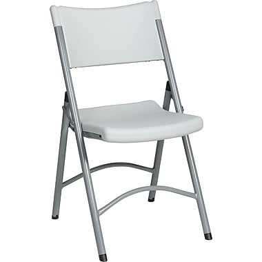 Office Star WorkSmart™ Plastic Resin Folding Chair, White