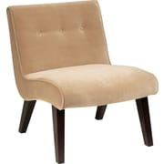 Office Star Ave Six Curves Valencia Velvet Armless Chair, Coffee (VAL51N-C27)