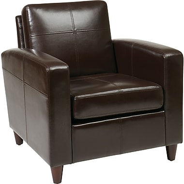 Office Star Avenue Six® Eco Leather Venus Club Chair, Espresso