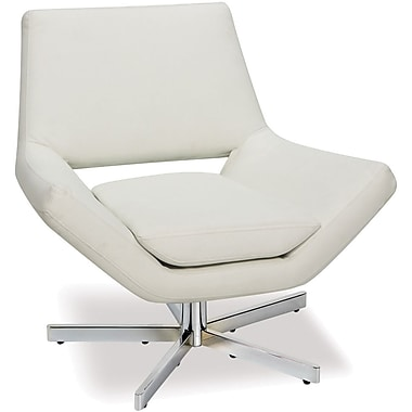 Office Star Avenue Six® Vinyl Yield 31in. Wide Chair, White