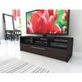 Sonax® Naples 60in. Wood/Veneer TV Bench, Ebony Pecan