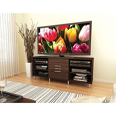 Sonax® Sedona 60in. TV/Component Bench with Sliding Door, Ebony Pecan