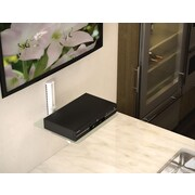 Sonax Single Component White Glass Wall Shelf Single
