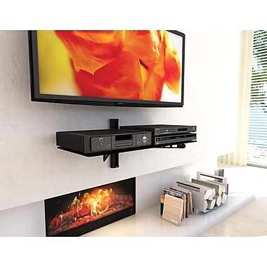 Sonax Wide Component Metal Wall Shelf, Midnight Black