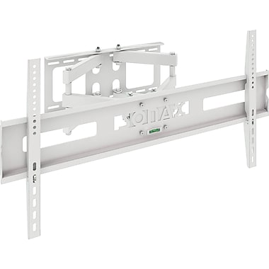 Sonax Full Motion Flat Panel White Wall Mount for 37