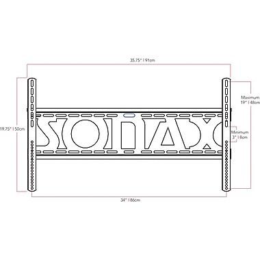 Sonax - Montage mural TV pour téléviseurs de 32 po à 90 po, noir