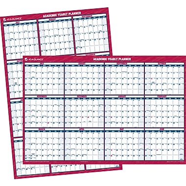 2014/2015 AT-A-GLANCE® Academic Large Vertical/Horizontal Erasable Wall Planner, 32in. x 48in.