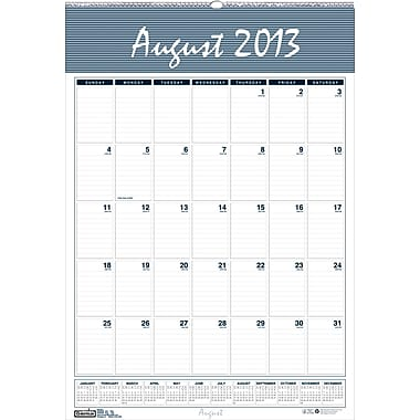 2013/2014 House Of Doolittle® Academic Bar Harbor Wall Calendar, 15 1/2in. x 22in.