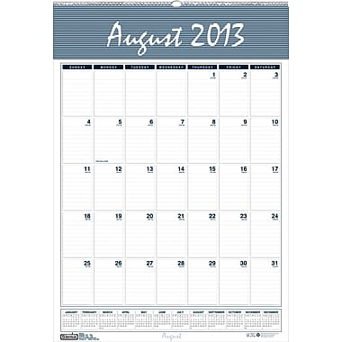 2013/2014 House Of Doolittle® Academic Bar Harbor Wall Calendar, 22in. x 31 1/4in.