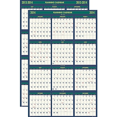 2013/2014 House Of Doolittle® Academic Four Seasons Reversible Planner, 24in. x 37in.