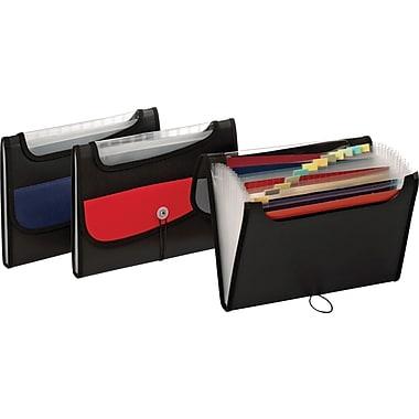 Globe-Weis® – Classeur expansible en poly, 13 pochettes, 8 1/2 po x 11 po, format lettre, couleurs variées