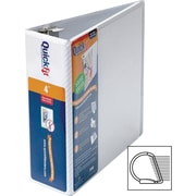 Stride QuickFit 4-Inch D 3-Ring View Binder, White (87060)