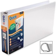"Stride® QuickFit™ Ledger D-Ring Binder, White, 475-Sheet Capacity, 2"" (Ring Diameter)"