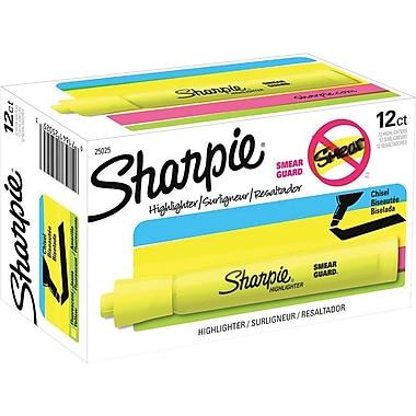 Sharpie® Accent® Highlighters, Fluorescent Yellow, Dozen