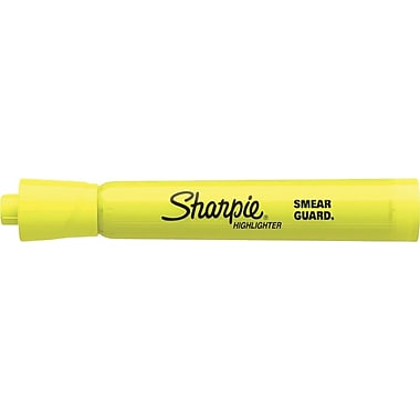 Sharpie® Accent® Highlighters, Fluorescent Yellow, Dozen