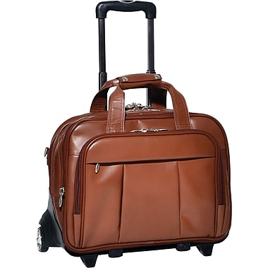 McKleinUSA Damen 17in. Detachable Wheeled Laptop Case, Brown