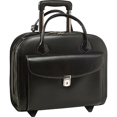McKleinUSA Granville Wheeled Ladies' Laptop Case, Black