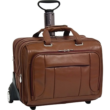 McKleinUSA West Town Fly-Through Checkpoint-Friendly 17in. Detachable-Wheeled Laptop Case, Brown