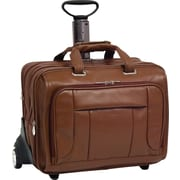 "McKleinUSA West Town Fly-Through Checkpoint-Friendly 17"" Detachable-Wheeled Laptop Case, Brown"