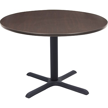 Regency 42in. Round Hospitality Table, Mocha Walnut