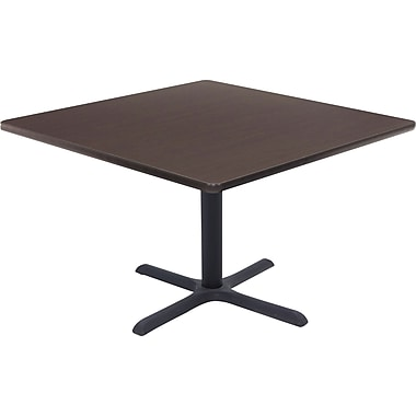 Regency 42in. Square Hospitality Table, Mocha Walnut