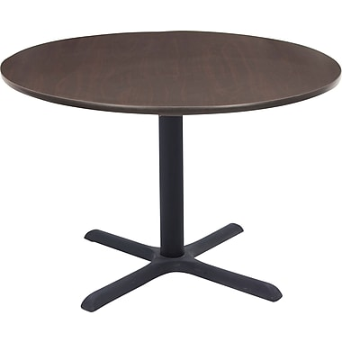Regency 36in. Round Hospitality Table, Mocha Walnut