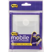 Post-it® Mobile Attach and Go Pockets, Small, Clear, 2/Pack