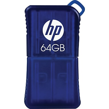 HP v165w P-FD64GHP165-GE 64GB USB 2.0 Flash Drive, Blue
