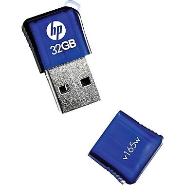HP v165w USB 2.0 USB Flash Drive, 32GB, Blue