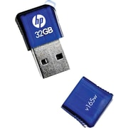 HP v165w 32GB USB 2.0 USB Flash Drive (Blue)