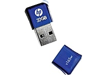 HP v165w P-FD32GHP165-GE 32GB USB 2.0 Flash Drive, Blue