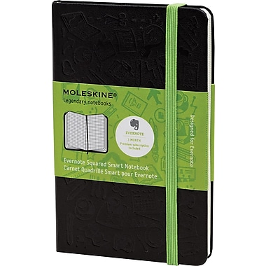 Moleskine Evernote Smart Notebook, Pocket, Squared, Hard Cover, 3-1/2