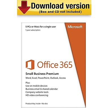 Microsoft Office 365 Small Business Premium for Windows/Mac (5-Device) [Download]