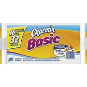 Charmin® Basic Bath Tissue Rolls, 1-Ply, 16 Rolls/Case