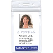 "Advantus Re-sealable Badge Vertical Holder, 2 5/8"" x 3 3/4"" Insert Size, 50/Pk"