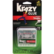 Krazy® Glue Single-Use Tubes with Storage Case, 4 Tubes per Pack