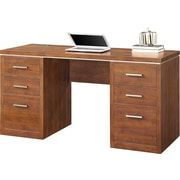 "Whalen Legeant Double Pedestal Desk, 58"" x 23.5"" x 30"", Cherry (SPCA-LDPD)"