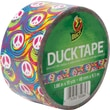 Duck Tape Brand Duct Tape, Swirl Peace Sign, 1.88in.x 10 Yards