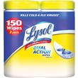 Lysol® DUAL ACTION Disinfecting Wipes, Citrus Scent, 2 Pack