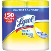 Lysol® DUAL ACTION™ Disinfecting Wipes, Citrus Scent, 2 Pack