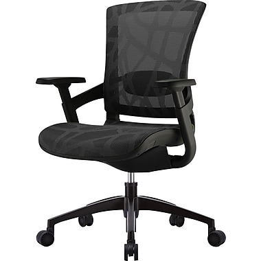 Skate Black Mesh Ergonomic Chair w/ Black Frame