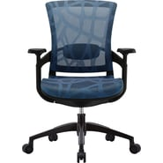 Skate Blue Mesh Ergonomic Chair w/ Black Frame