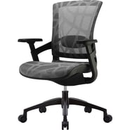 Skate Silver Grey Mesh Ergonomic Chair w/ Black Frame