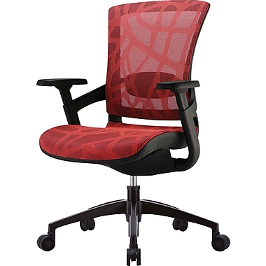 Skate Ergonomic Mesh Chair, Adjustable Arms, Red
