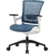 Skate Blue Mesh Ergonomic Chair w/ White Frame