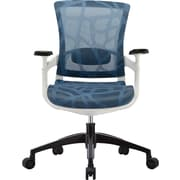 Skate Mesh Ergonomic Mid-Back Chair, Adjustable Arms, Blue